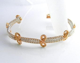 """Woven Wire Copper Cuff Bracelet will fit up to a 6.5"""" Wrist"""