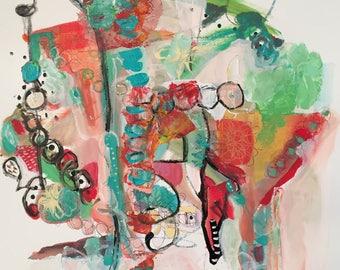 Pardon my Martini, by Theresa Kauker, original, art, painting, abstract, martini, bar, drinks, home, decor, acrylic