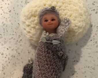 OOAK miniature polymer clay princess