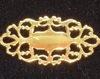 VTG Historic Charleston Liberty Workshop Brooch 18K Gold on Solid Brass