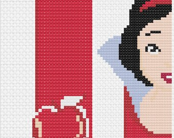 Snow White and the Seven Dwarves- Disney Cross Stitch Bookmark Pattern