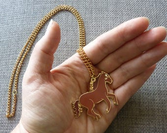 Enamel Wild Horse Necklace
