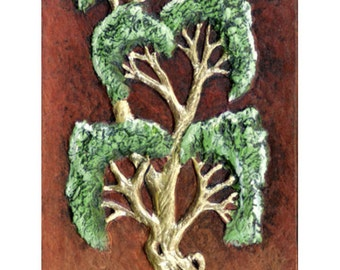 Sentinel - Cast Paper - Tree on Rocks - highlands - wall art