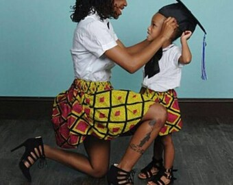 Mommy and Me outfits, Mommy and me African skirts, African skirt, Toddler girl, Mother and daughter African skirts, Mommy and Me clothes