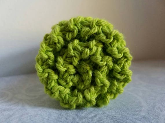 Bright Green Cotton Dishcloth