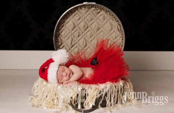 Baby Mädchen häkeln Hut Santa Christmas Fotografie Prop aller