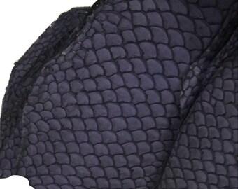 Tilapia Fish Leather purple fish leather genuine fish leather exotic leather hides alternative to snake skin leather purple fish leather