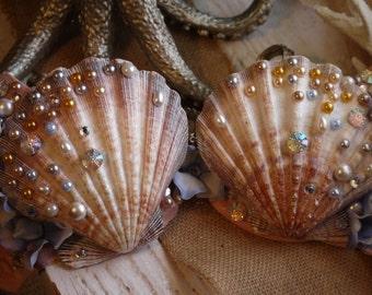 Mermaid top mermaid costume mermaid exotic dancer top under the sea mermaid bra Mermaid rave top mermaid bathing suit top seashell bra & Golden Mermaid Costume Women Costume Sexy Mermaid Costume