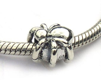 Spider Charm Sterling Silver Large Hole Bead for Bracelets