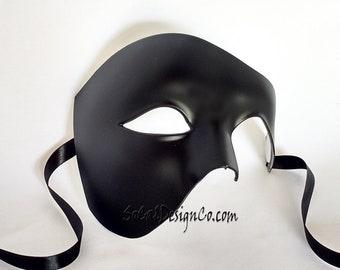 Masquerade Mask, Phantom Mask, Man Masquerade Mask, Halloween Mask, Masquerade Ball Mask, Man Masquerade, Mardi Gras Mask, Half Mask