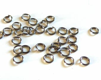 Black metalgun rings round 5 mm - 20