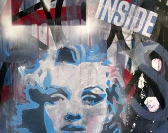 Marylin Stencil Street Art Pop Art Urban Icon Portrait
