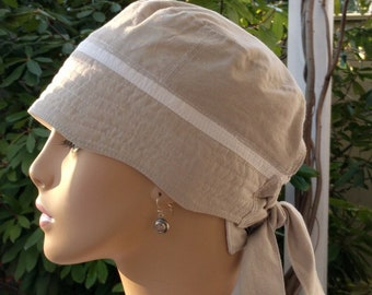Womens Chemo Hat Cancer Cap Organic Cotton Chemo Hat for Hair Loss Chemo  Alopecia Hat Cotton Adjustable and Reversible Hat MEDIUM
