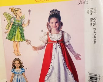 McCall's Costumes MP446 gown, fairy, queen, princess - just pretend - new uncut size 3-8, 2015