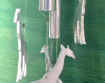 Giraffe wind chimes