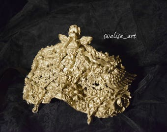 One Of A Kind Angel Mask Gold Illusion Wearable Art