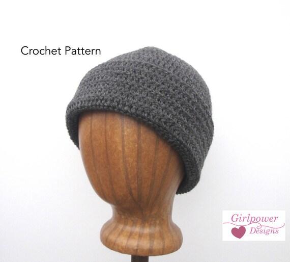 Crochet Watch Cap Pattern Beanie Hat Easy Crochet Pattern