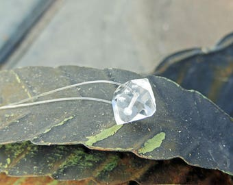 Herkimer Diamond Invisible Necklace 18/15mm