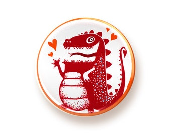 Dragon - round magnet
