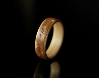 Unique Ring For Her · Handmade Womens Wooden Ring · Walnut & Maple bentwood ring • fiance gift • valentines day gift • personalized gift