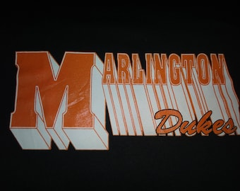 Vintage 1980s MARLINGTON Dukes 50/50 T Shirt