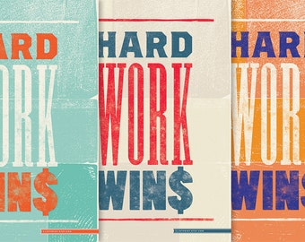 Hard Work WINS - Poster