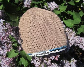 Chapeau d'été pour l'homme à la main, bonnet, l'été et le printemps bombull casquette en coton des hommes, croschet accessoires pour hommes, cadeaux pour lui