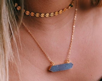 NEW - Druzy on Gold Chain