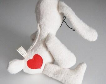 Eco Organic Natural Bunny Valentines Heart Rabbit Doll Stuffed Animal Toy