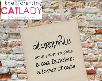 Ailurophile Cat Lady Tote Bag