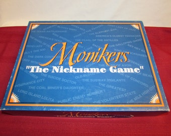 MONIKERS The Nickname Game 1994