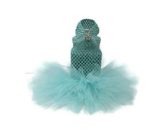 Aqua Dog Tutu- Dog Tutu-Dog Dress-Wedding Dog Dress-Tutus for dogs-Wedding Dress for Dogs-Dog Bride-Dog Wedding-Dresses for dogs