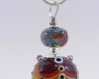 Handmade Lampwork and Sterling Silver Pendant