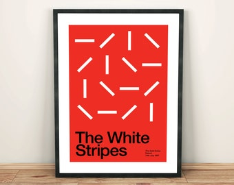 The White Stripes Remixed Gig Poster, Art Print, Music Poster