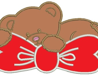Bear Applique  - Machine Embroidery Designs - three sizes