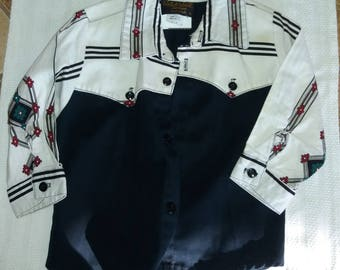 Wild West Designs Child's Western Shirt size 2-3 Kids Shirt Rockabilly Western Swing