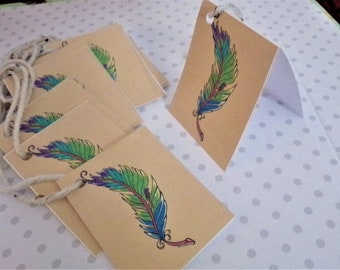 Bird on a Feather / Gift Tags/ Mini Cards.