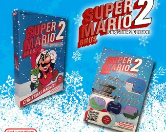 Super Mario Bros. 2 Christmas Edition NES NINTENDO