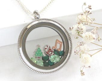 Christmas Gifts Christmas Jewellery, Christmas Tree Necklace, Stocking Stuffer UK, Unique Christmas Present, Christmas Gifts for Coworkers