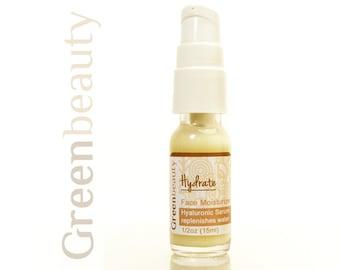 Hyaluronic acid serum, face moisturizer, 1/2oz trial size, anti aging serum, facial moisturizer, facial serum, daily face moisturizer