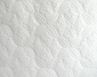 Vintage White Dado Wallpaper