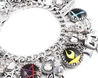 Chalice Charm Bracelet, Unitarian Jewelry, Silver Charm Bracelet, Chalice Jewelry, Celebrate Diversity Charm Jewelry