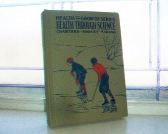Vintage 1935 Schoolbook Health Through Science