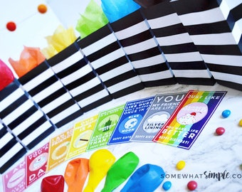 Colorful Birthday Tags