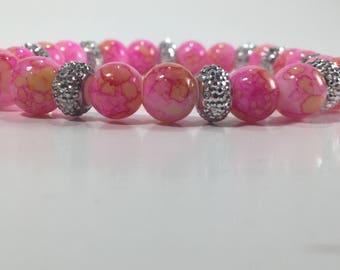 Pink & Orange Marble