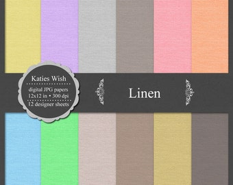 Linen Digital Scrapbooking Kit commercial use background, texture, fabric, instant download