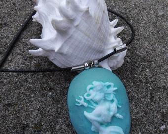Mermaid Cameo Necklace - Handmade DreadNaughty Signature Jewelry