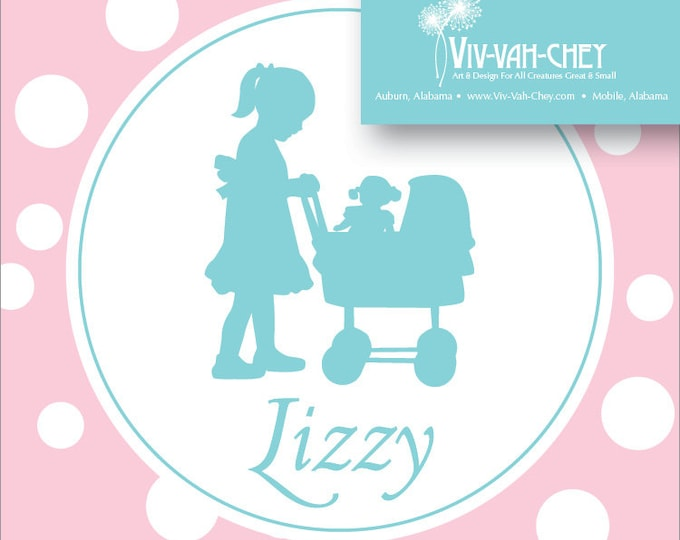 Classic Baby Doll | Sticker or Calling Card