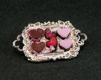 Valentine Dessert Tray (1:12th scale)