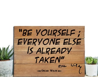 Oscar Wilde Quote, literary gift, book lover, literature quote, all in the gutter, Gift for her, gift for him, christmas gift, wooden sign,